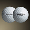 Bridgestone Tour B330 Golf Ball Review, golf ball side and front image