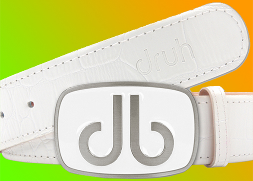 Druh white belt and buckle design
