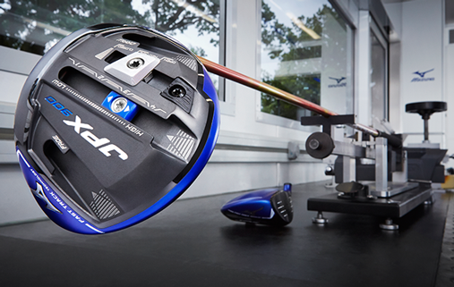 Golf Equipment test and review: Mizuno JPX900 Driver Sole and shaft factory view